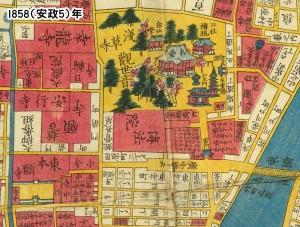 浅草周辺1858年