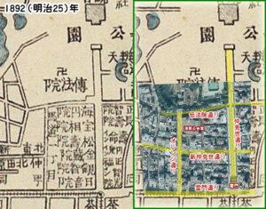 浅草周辺1892年